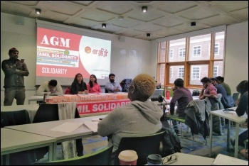 Tamil Solidarity AGM, 11.1.2020, photo by London Socialist Party