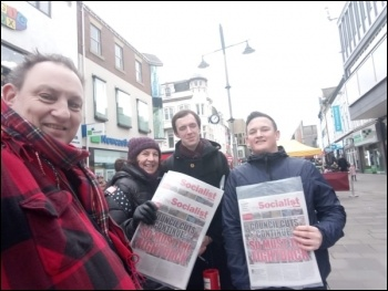 Selling the Socialist in Newcastle