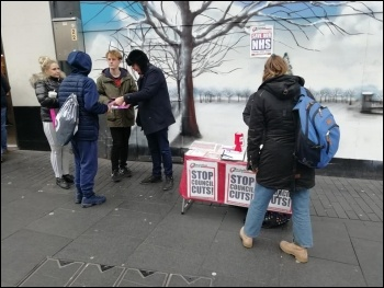 Leicester Socialist Party stall 24 January