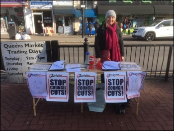 Newham Socialist Party campaign stall 8 February 2020