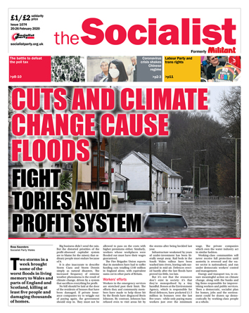 The Socialist issue 1035: Cuts and climate change cause floods