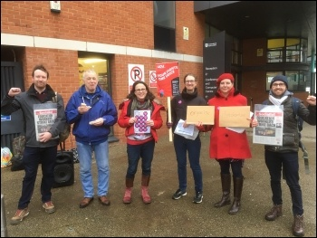 UCU picket line UEL Stratford 24 February 2020