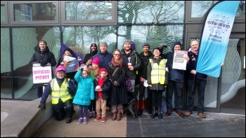 UCU picket line at Sheffield University