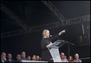 Rebecca Long-Bailey - would you stand firm against the capitalist class? photo Paul Mattsson