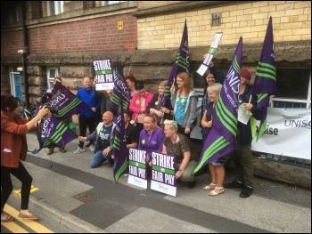 Addaction charity workers' strike, photo Unison NW