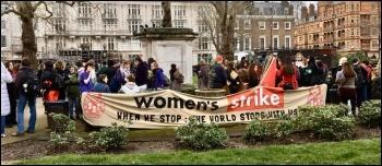 Women's strike London March 2020