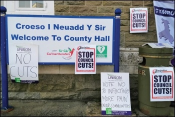 Councils must stop doing the Tories' dirty work, photo Socialist Party Wales