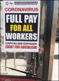 Socialist Party Scotland poster in Glasgow, photo P Stott