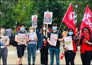 Socialist Party members in Hyde Park, 3 June 2020