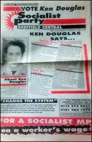 Ken Douglas - Sheffield election leaflet