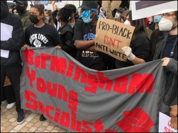 Black lives matter demo, Birmingham, June 2020, photo Birmingham SP