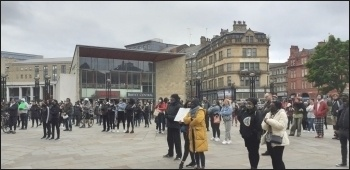 BLM demo, Bradford, June 2020, photo Bradford SP