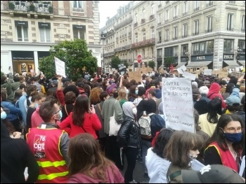 Black Lives Matter protest in Paris