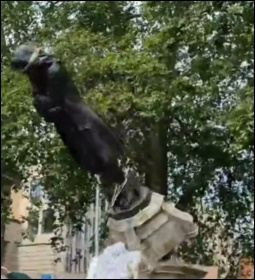 Edward Colston's statue was toppled in Bristol, photo Bristol SP