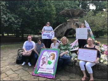Doncaster Women's Lives Matter protest June 2020, photo Amy Cousens