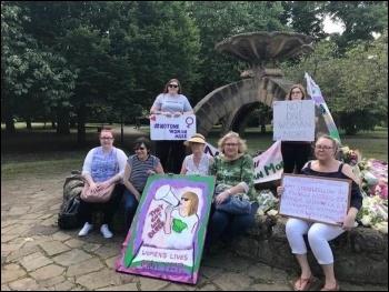 Doncaster Women's Lives Matter protest June 2020, photo Amy Cousens