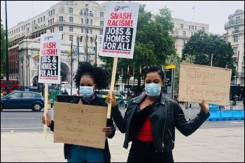 Black Lives Matter protesters, Hyde Park, 3.6.20, photo Socialist Party