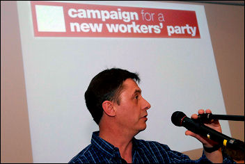 Campaign for a New Workers Party (CNWP) conference 2007, photo Paul Mattsson