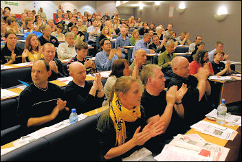 Campaign for a New Workers Party (CNWP) conference, photo Paul Mattsson