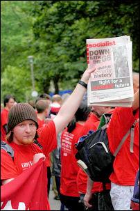 ISR demonstrating at the G8 in Edinburgh 2005