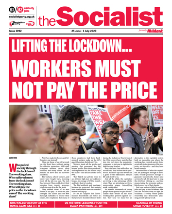 The Socialist issue 1092: Workers must not pay the price