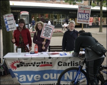 Carlisle Socialist Party campaign stall June 2020