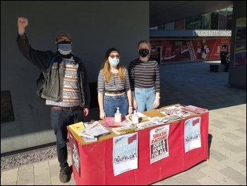 Selling the Socialist, photo by Lincolnshire Socialist Party