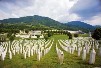The Srebrenica massacre memorial, photo by Mark Norton/CC
