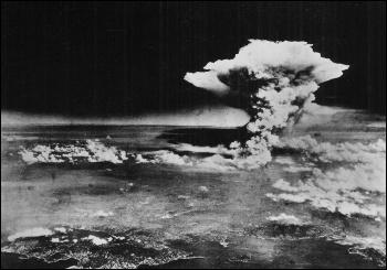 The atomic cloud over Hiroshima