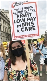 Demanding a 15% pay rise for NHS workers, 8th August 2020, London, photo Judy