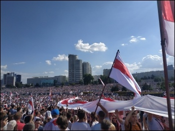 Opposition protest in Minsk, Belarus August 2020