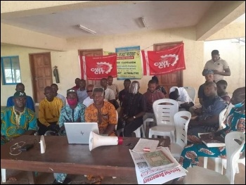 CWI members in Nigeria watch the rally