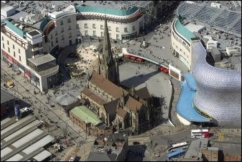 Birmingham city centre, photo by West Midlands Police/CC