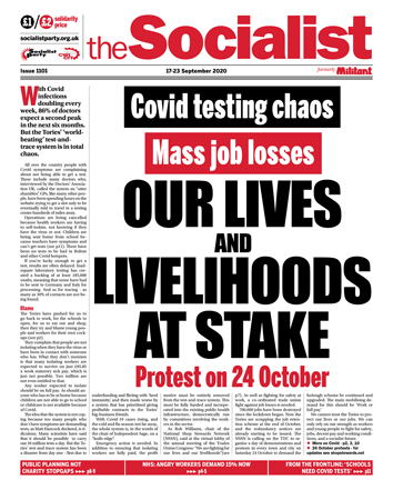 The Socialist issue 1101: Our lives and livelihoods at stake