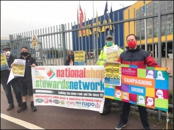 Protesting at Ikea Tottenham 24 September in support of Richie Venton