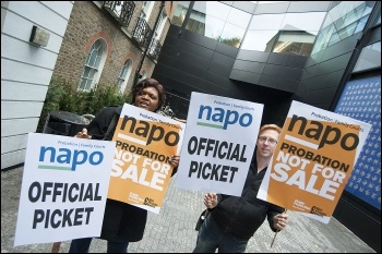 Napo members' on strike, photo Paul Mattsson