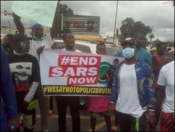 Protesting against SARS October 2020, photo DSM