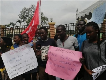 DSM members on a recent mass protest in Lagos, photo DSM
