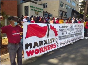 Marxist Workers Party backing the protest