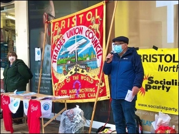 Bristol Jobs Protest, Photo: Bristol Socialist Party