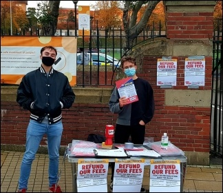 Socialist Students campaigning in Birmingam