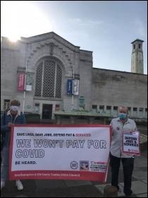 Southampton Trades Council protest 7 November 2020