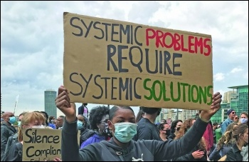 Black Lives Matter protester - Photo Judy Beishon