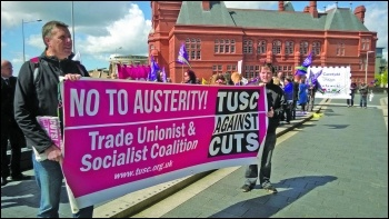 TUSC lobby the Welsh assembly in 2015, Socialist party Wales