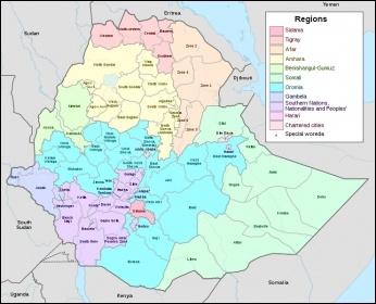 Map of Ethiopia Photo: NordNordWest/CC