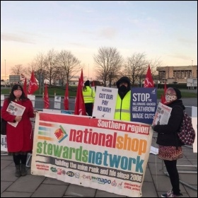 Heathrow workers Strike Photo: Socialist Party