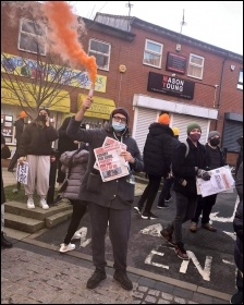 Supporting the protests in Birmingham, Photo: Birmingham Socialist Party