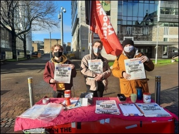 Campaigning in Plymouth, Socialist Party Plymouth