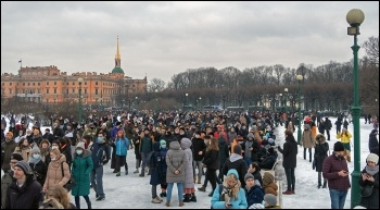 St Peterburg protest January 2021, photo