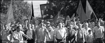 Workers on strike in Novocherkassk in 'Dear Comrades!'